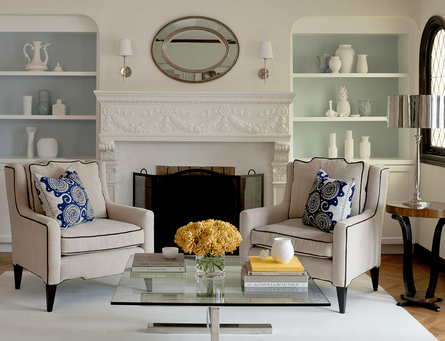 Beautiful living rooms with built in shelving