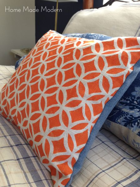 how to stencil a custom pillow with freezer paper