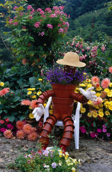 Pot Scarecrow