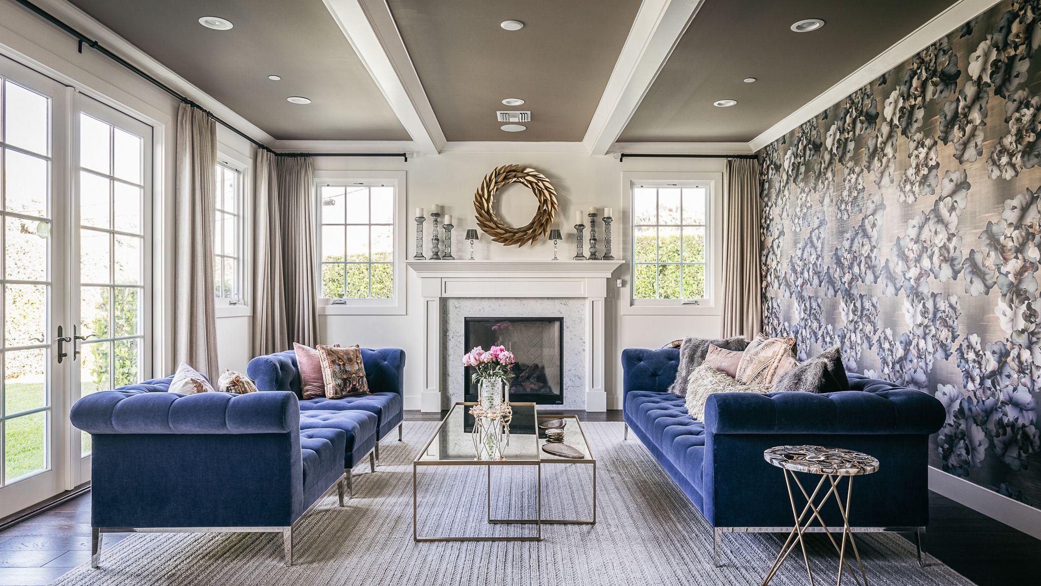 Beautiful Blue Living Room Ideas, Gray Blue Living Room