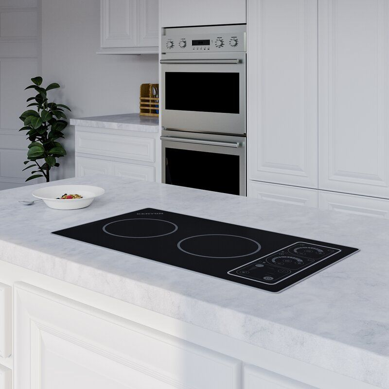 The Silken 21 in. 240V Induction Cooktop has two burners and 16 different settings.