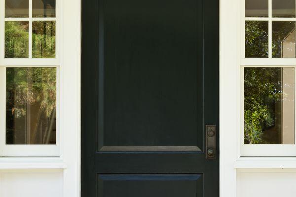 feng shui door black color north