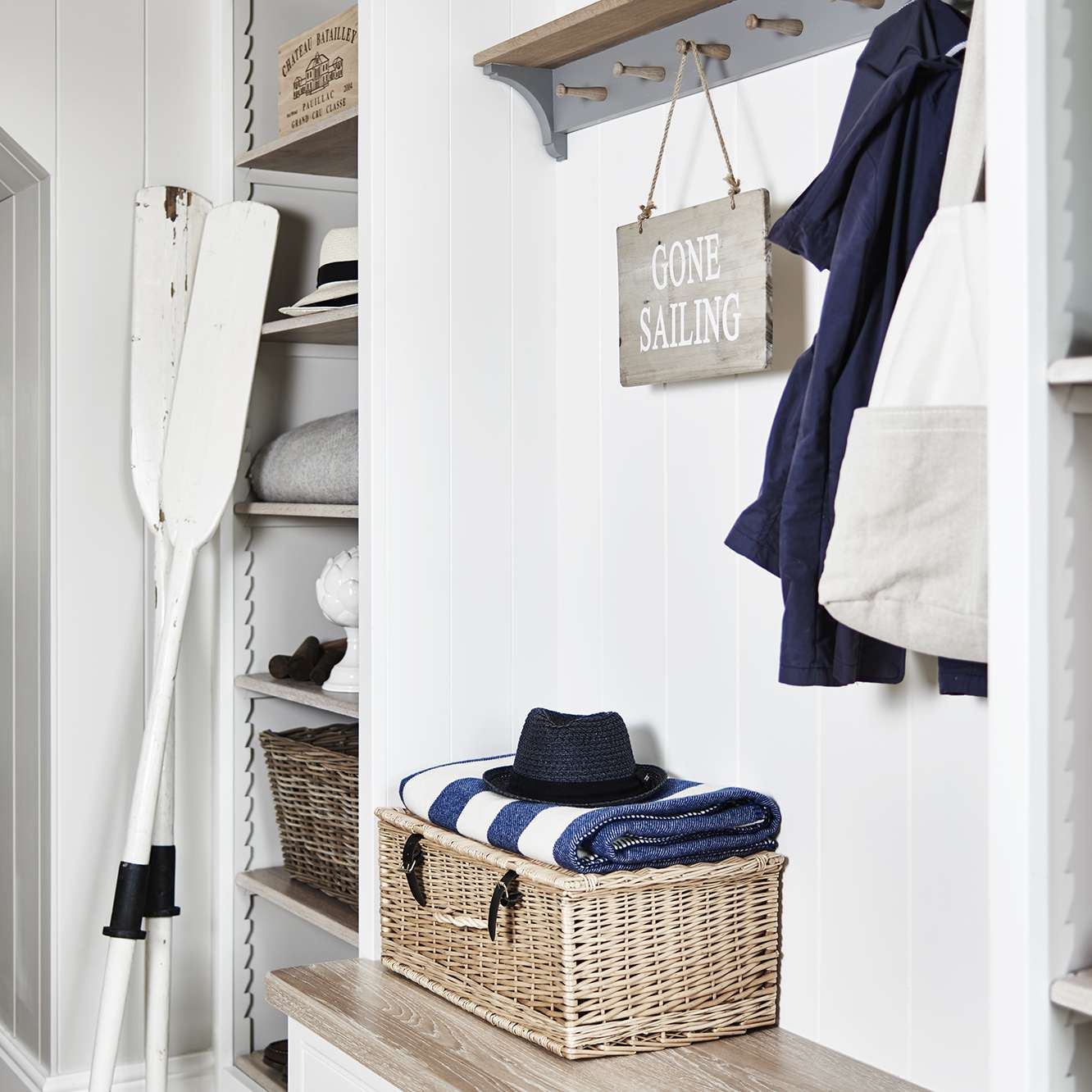 Entryway storage in the Cornwall home of Emma Sims-Hilditch