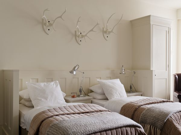 Twin beds in a shared bedroom.