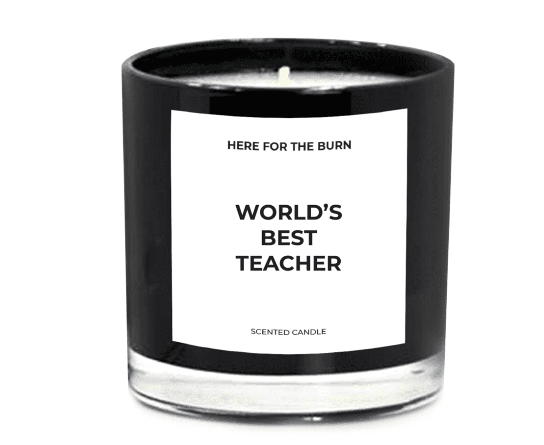 World's Best Teacher Candle