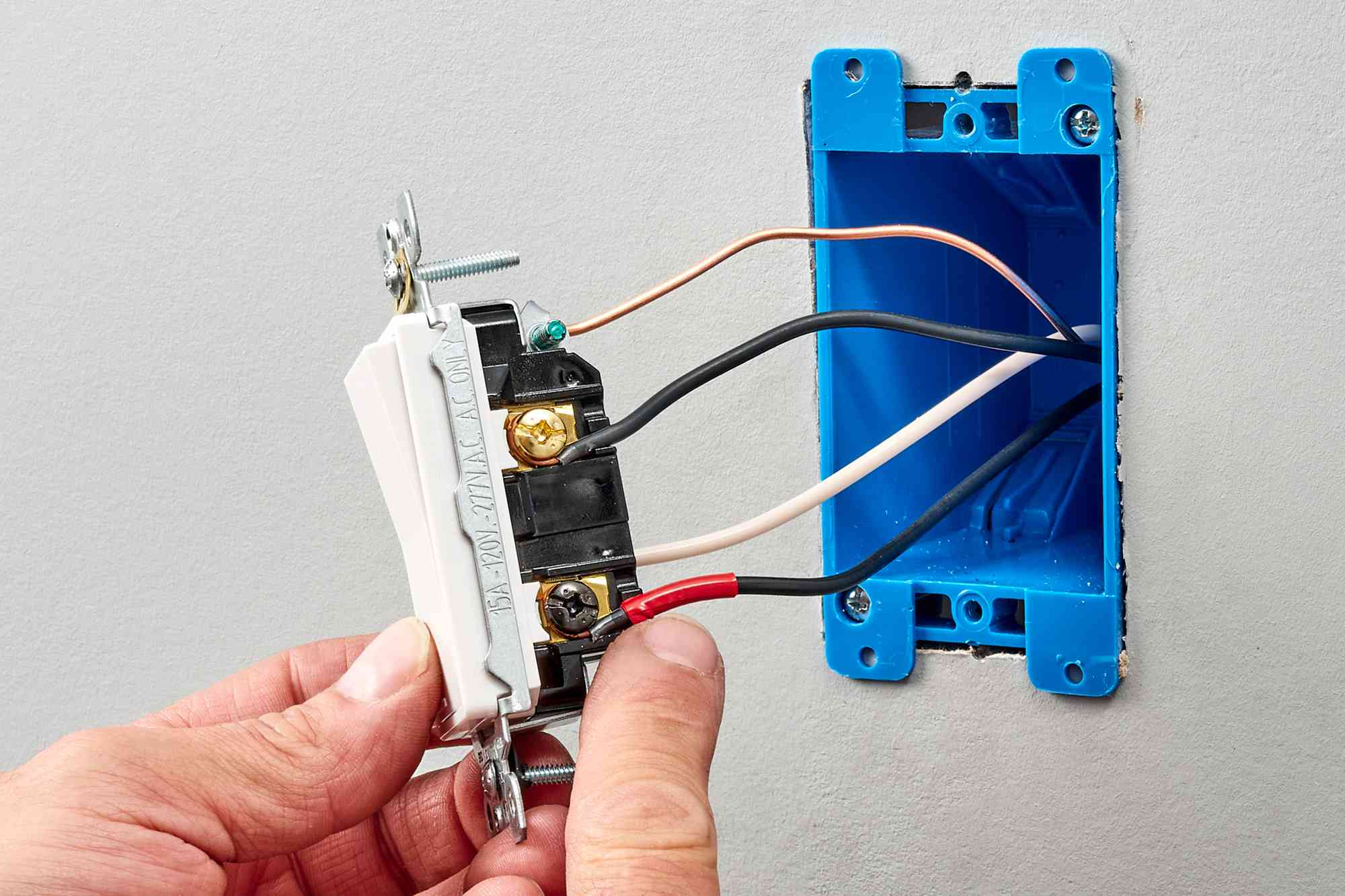 Three-way switches wired to back of electrical device