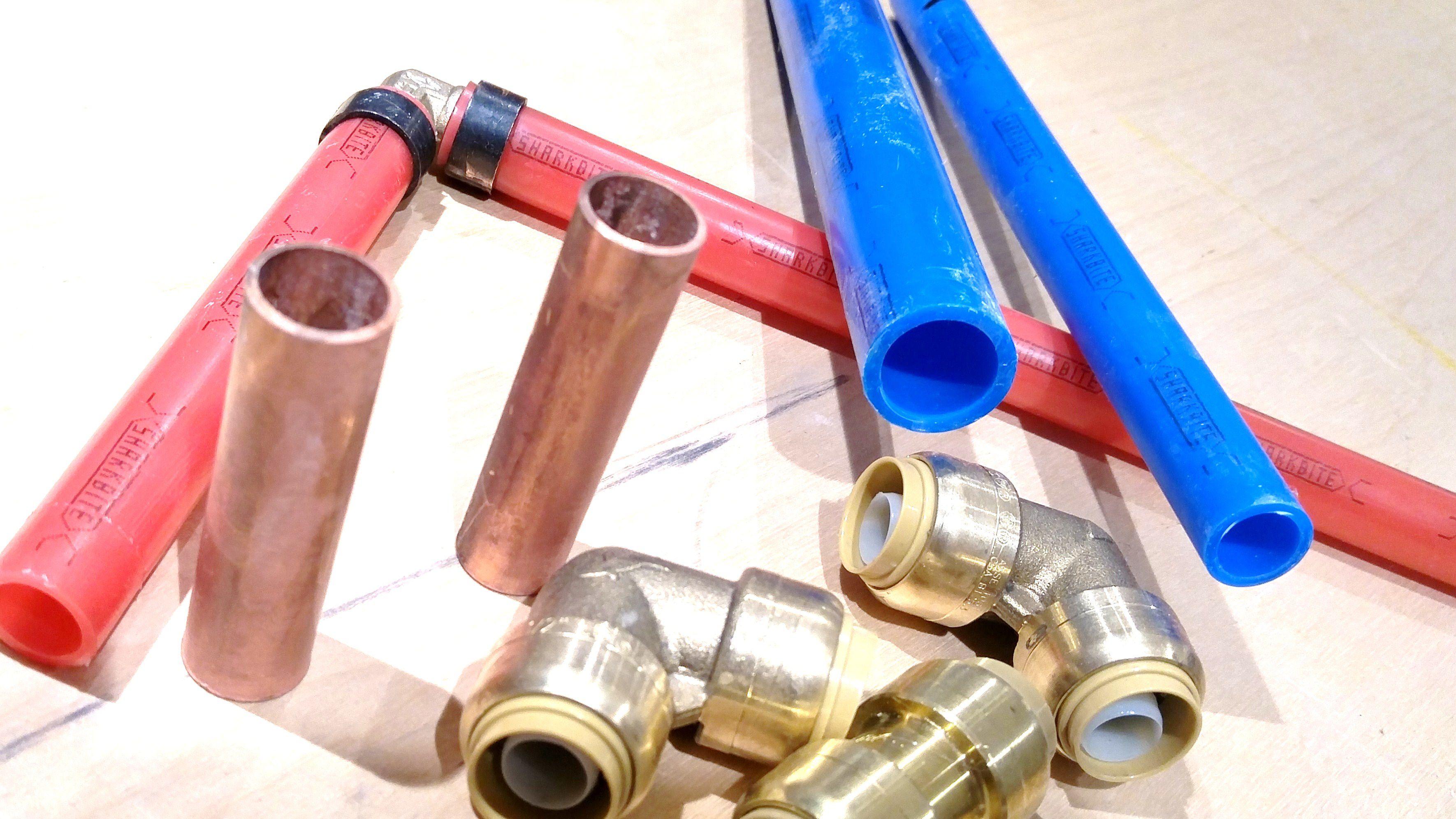 Copper vs pex and sharkbite comparison for Copper pipe vs pex