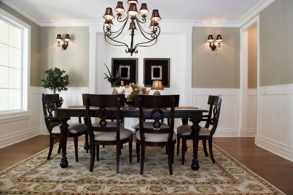 Chair Railing in Formal Dining Room