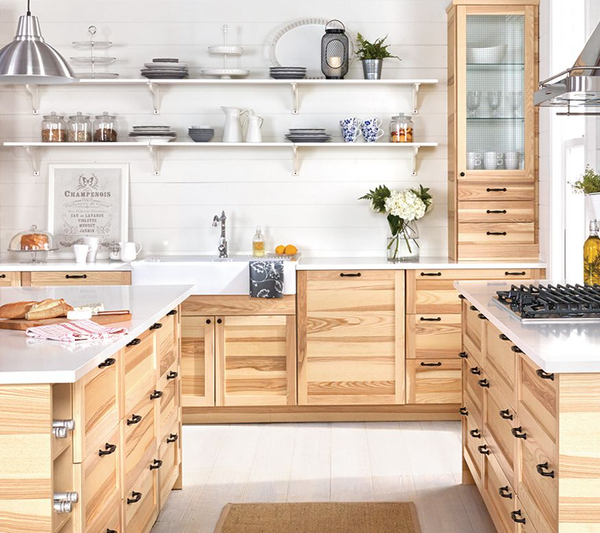 Awesome Bamboo Shaker Kitchen Cabinets