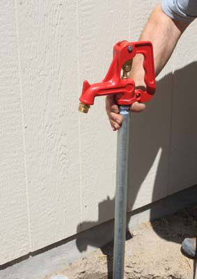 Install a water hydrant