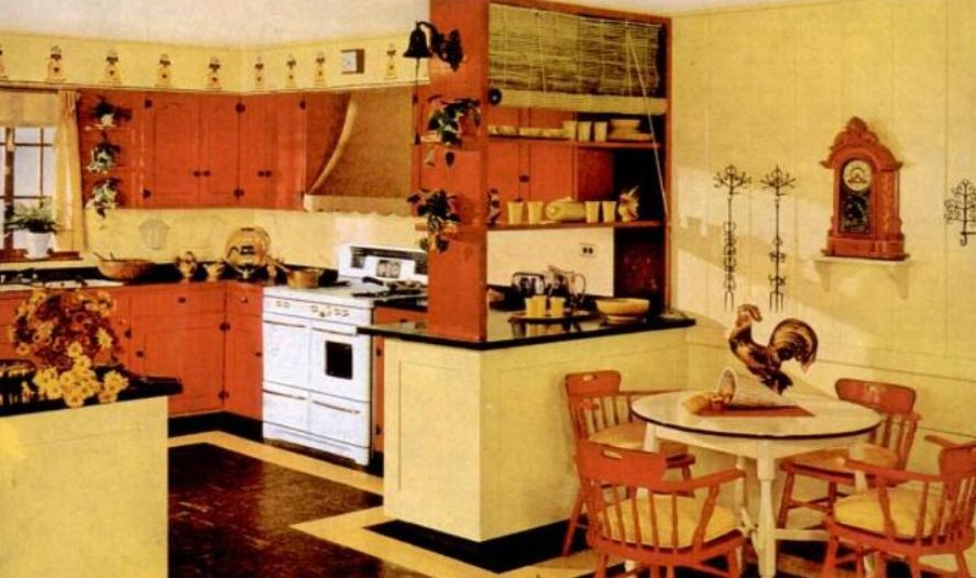 Kitchen Trends Introduced in the 1950s on u shaped small kitchen designs, u shaped kitchen cabinets, u shaped french country kitchen, u shaped country house plans, u shaped galley kitchen designs, u shaped country house designs, u shaped cottage kitchen,