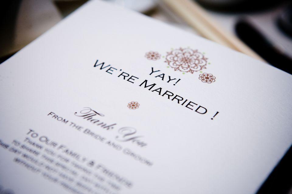 Wedding reception card