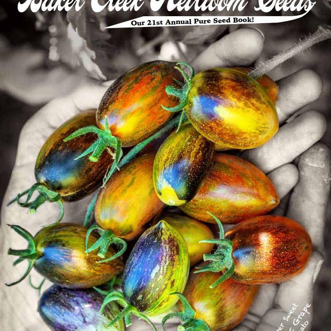 El catálogo de semillas de la herencia de Baker Creek 2018