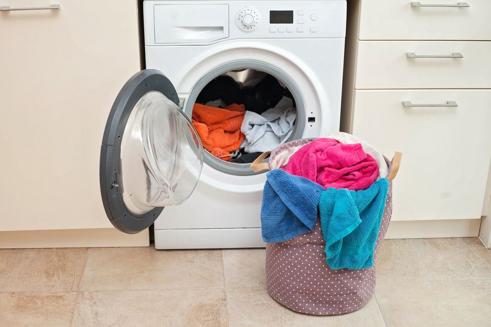 Washer machine with clothes