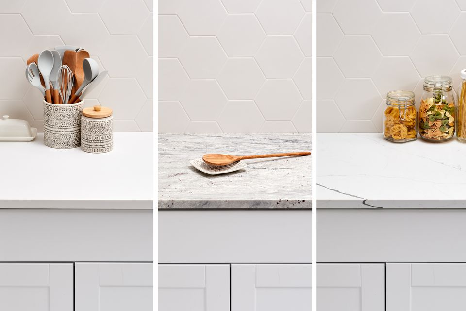 Solid surface, quartz and granite countertop