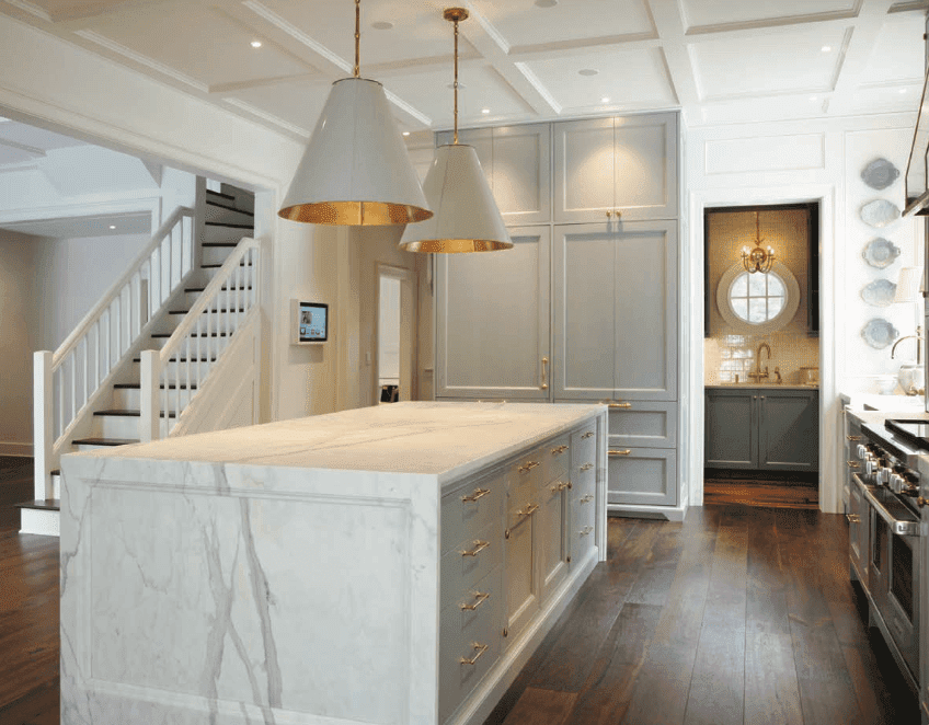 half off 93a32 907dd 16 Beautiful Marble Kitchen Countertops