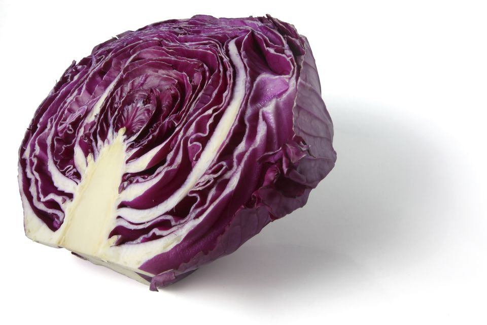 Red cabbage stains can act as a dye on clothing.