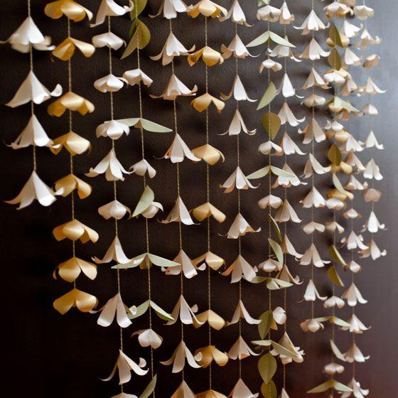 DIY Hanging Paper Flowers Backdrop