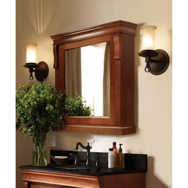 Home Decorators Collection Naples Framed Surface-Mount Bathroom Medicine Cabinet