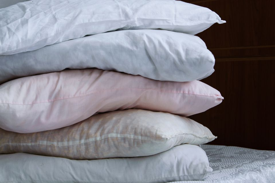 pile of different pillows