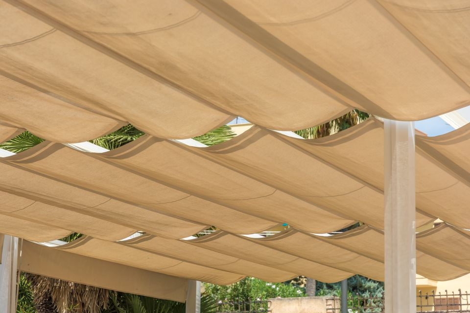 Retractable DIY Pergola Canopy or Slide Wire Shade