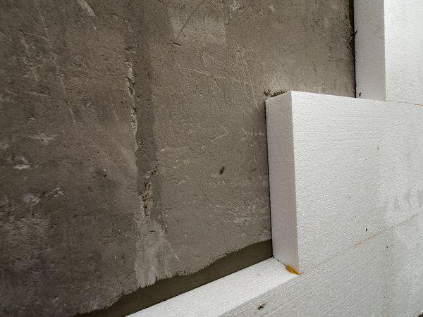 Rigid Foam Insulation on Concrete Wall