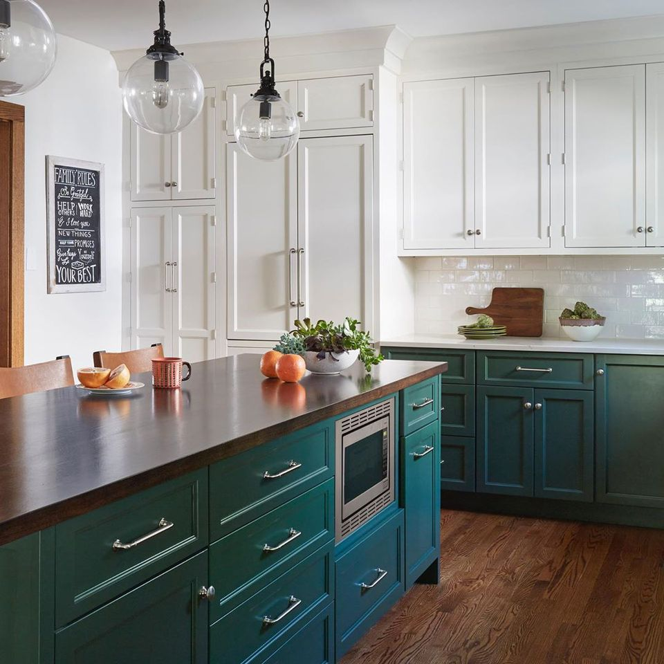 Wood Kitchen Cabinets White Countertops
