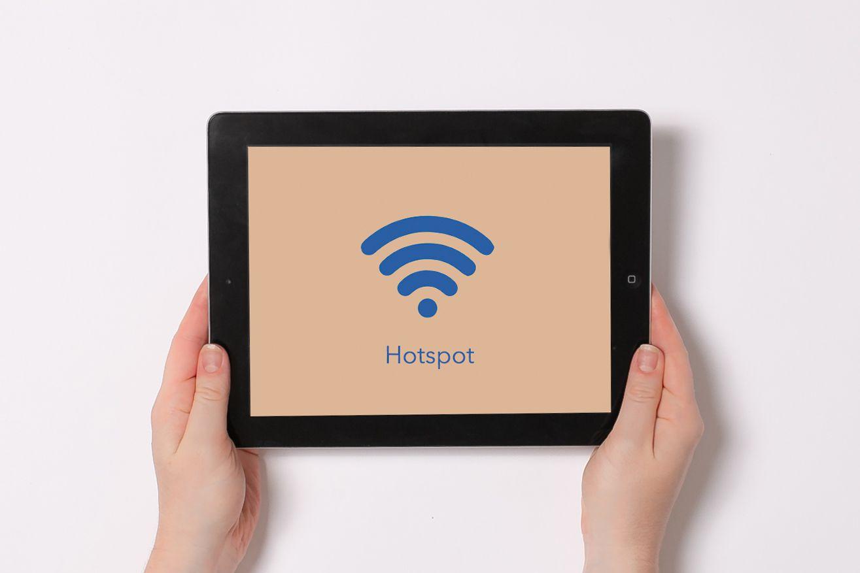 wifi hotspot on a tablet