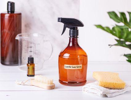 homemade castile soap spray