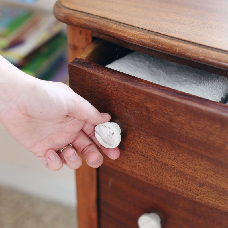 marble pulls on a dresser