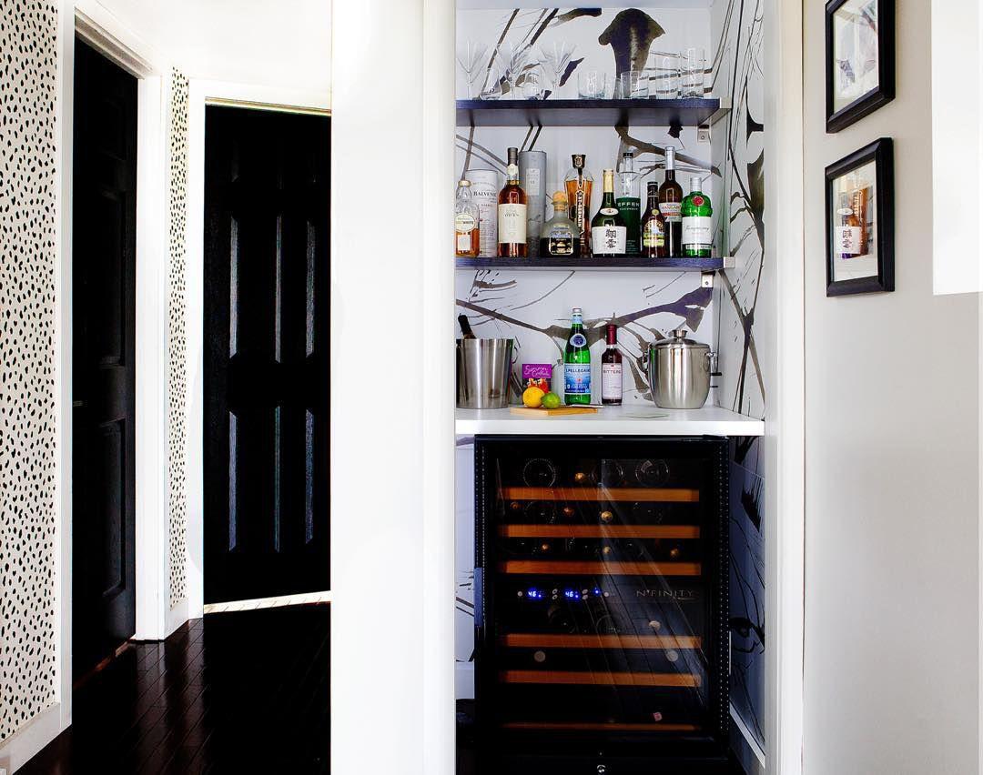 Home bar in corner