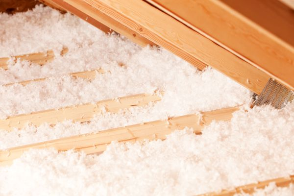 Blown Attic Insulation at Eave Area