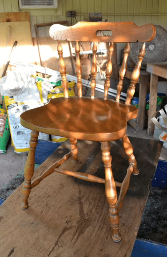 refurbished wooden chair