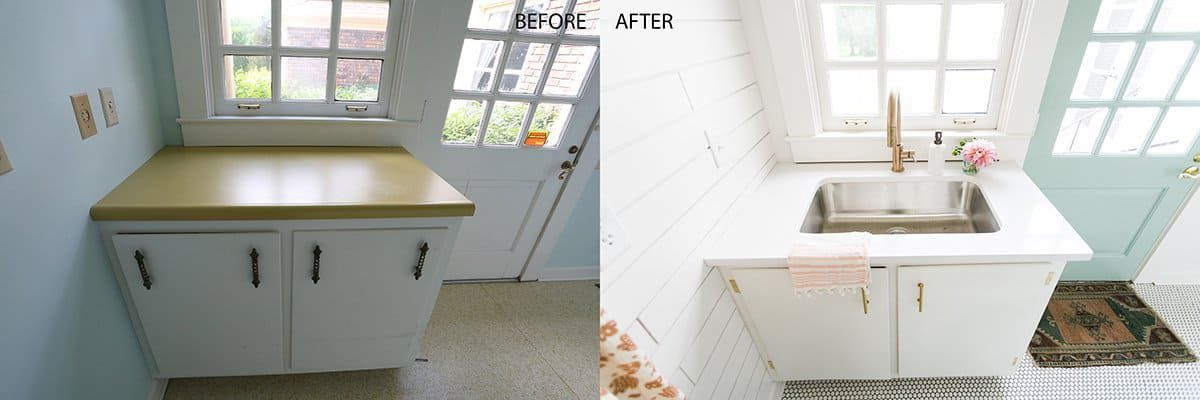 Before and after laundry room.