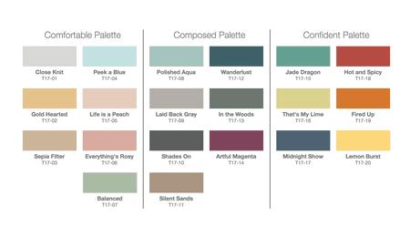 Behr 2017 Color Trend Palette