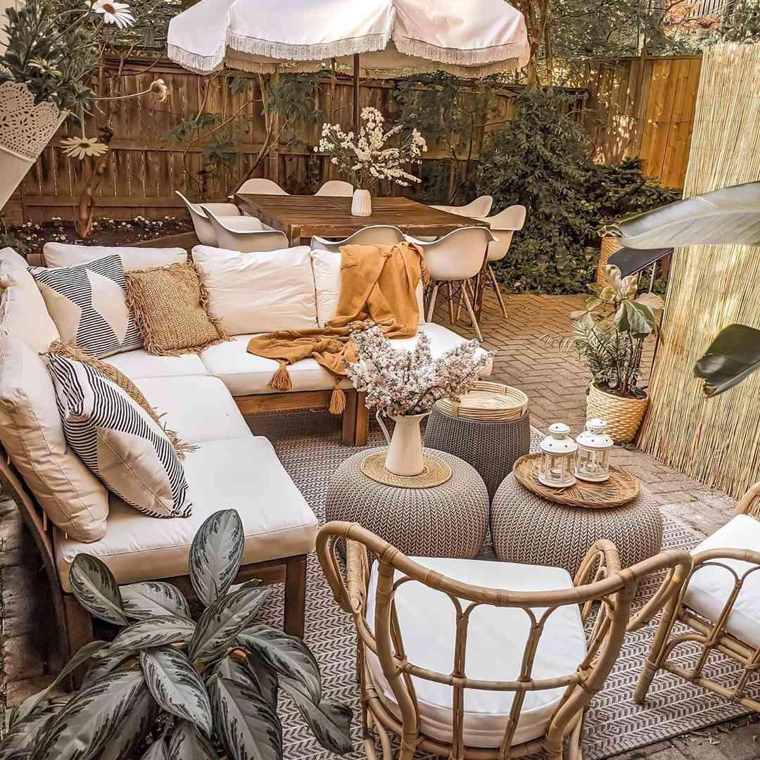 Configuración del patio al aire libre