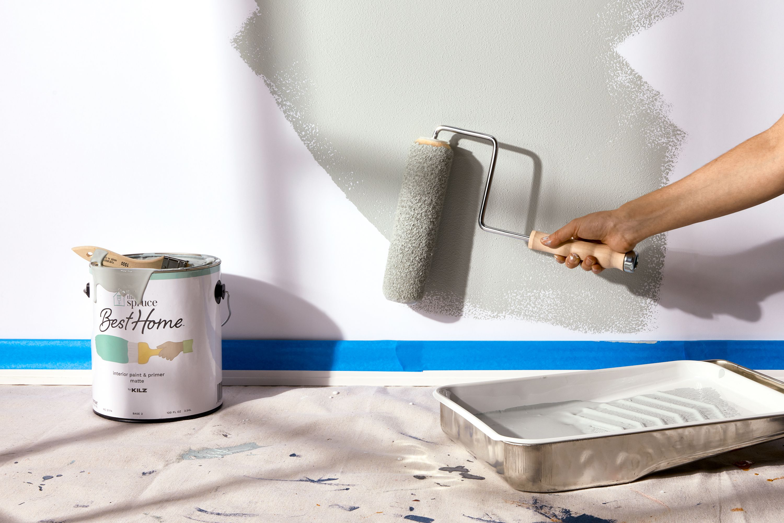 Apply the Paint Using a Spray Roll