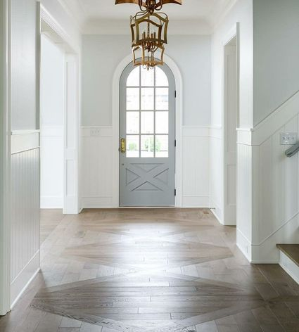 entryway with wide patterned flooring