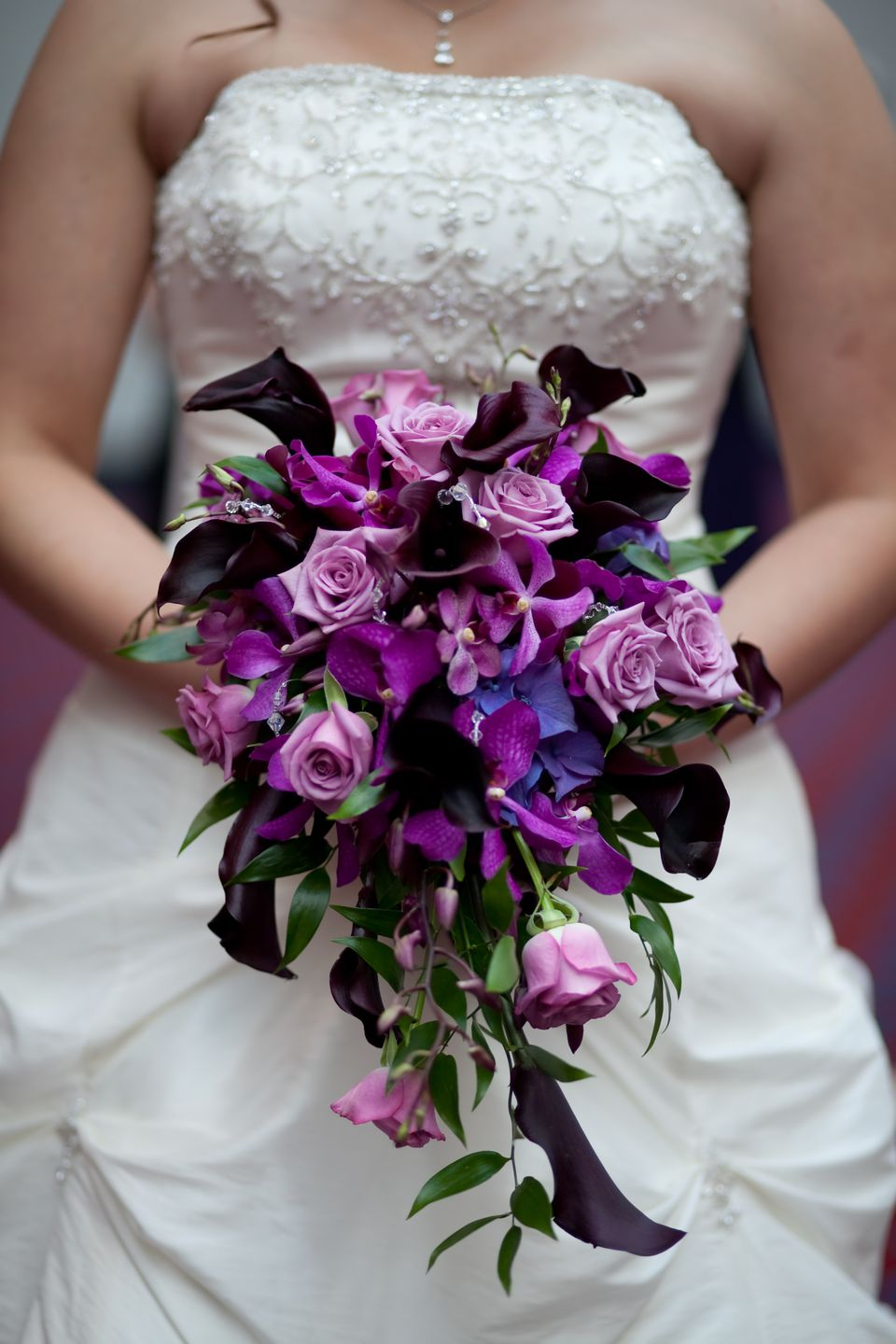 Spring purple bridal bouquet calla lily and rose bouquet junglespirit Gallery