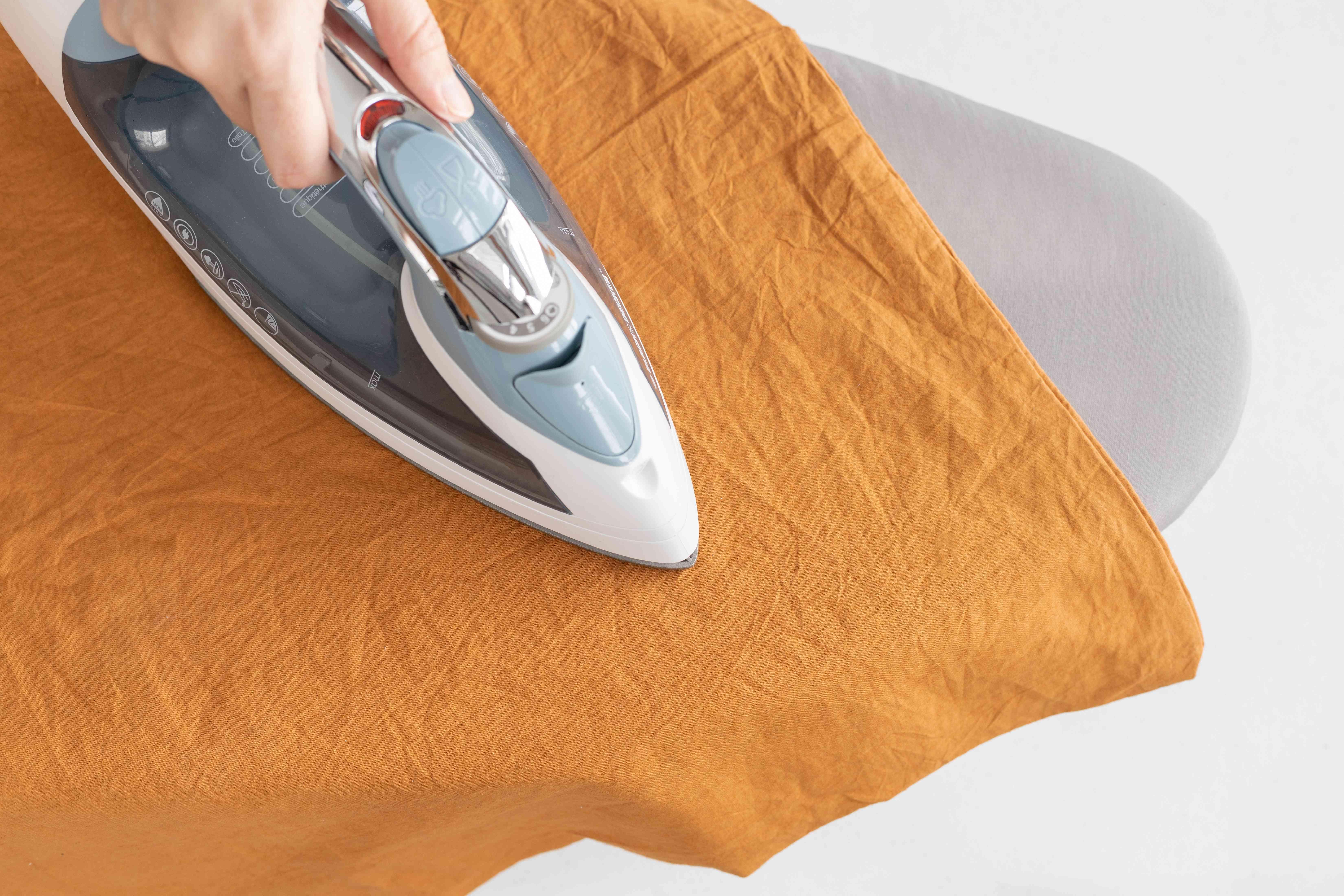Ironing duvet cover