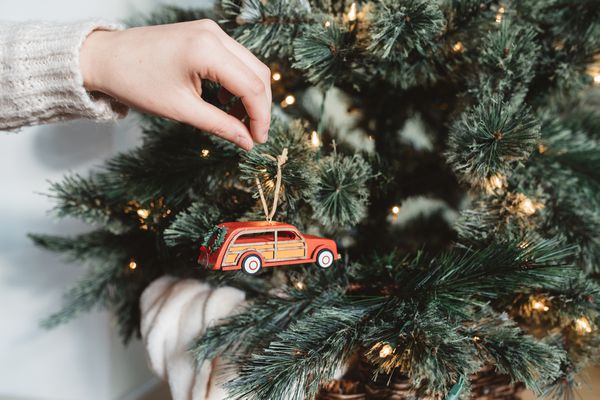 decorating a tree with ornaments