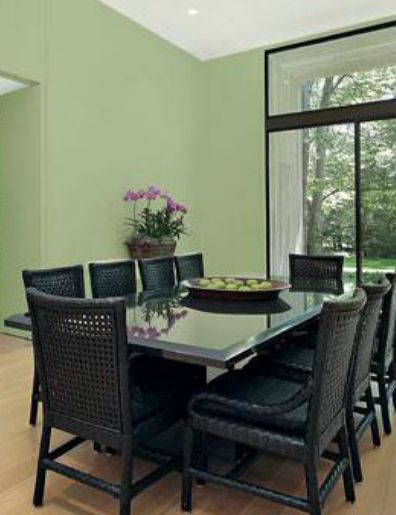 Minty Green And White Dining Room Colors