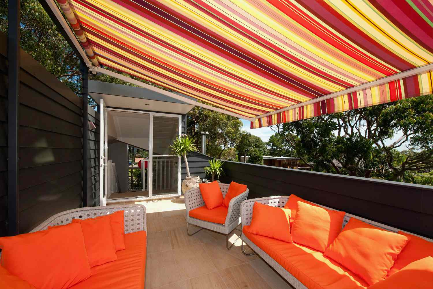 colorful awning