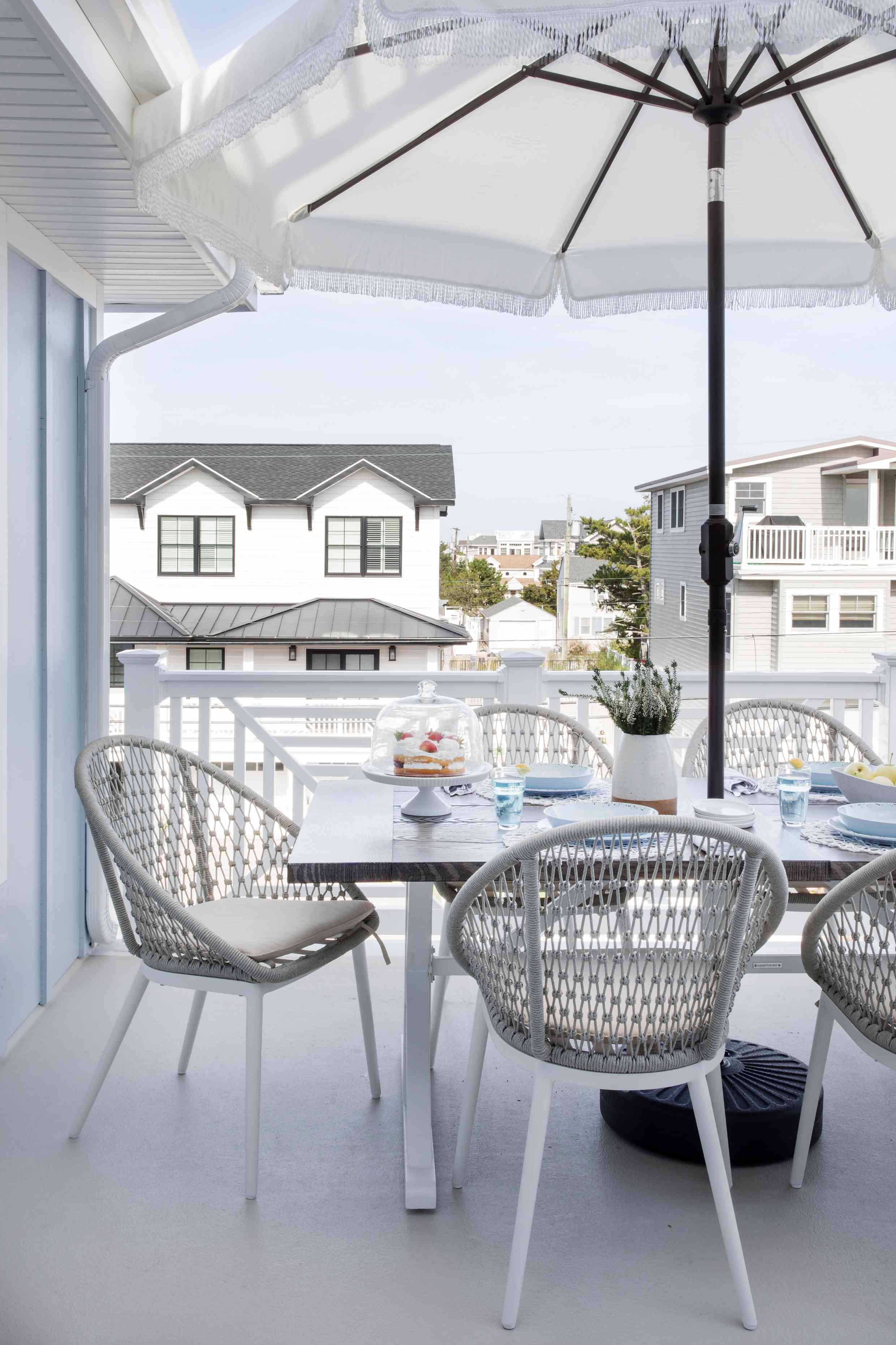 The deck at the Long Beach Island home of Karen B. Wolfe