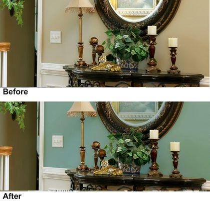 Color de verde menta de sala de estar