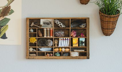 repurposed letter press drawer