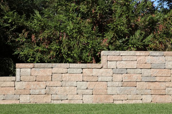 Block retaining wall.