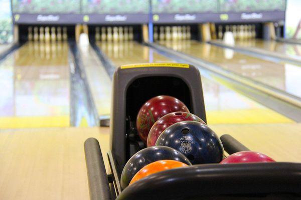 Bowling balls and lanes.