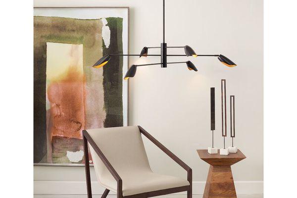 Modern chandelier chair lifestyle
