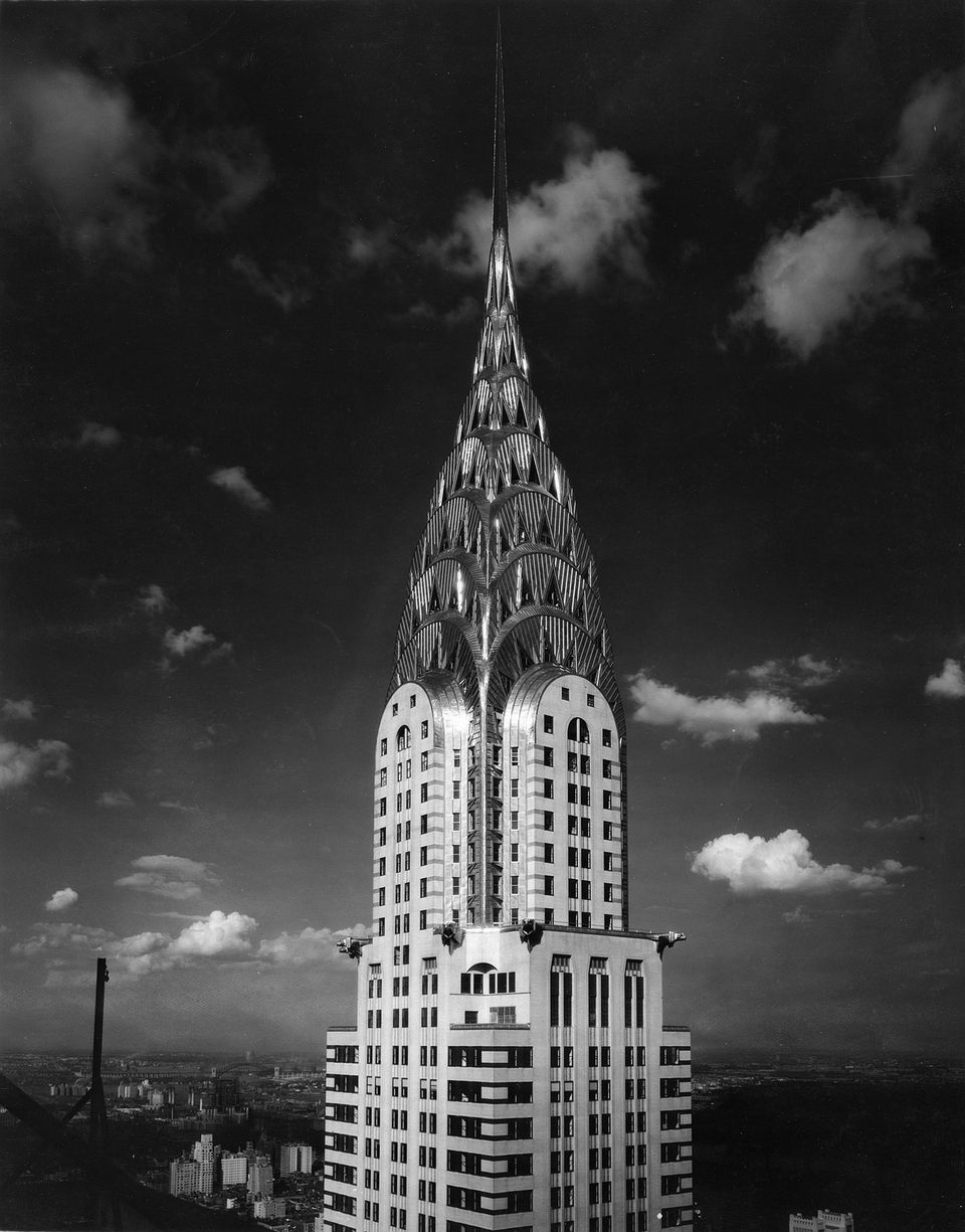Image of Chrysler Building in an Art Deco style.